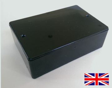 Black ABS Gloss Plastic Small Enclosure 116mm x 78mm x 37mm (RX1006)